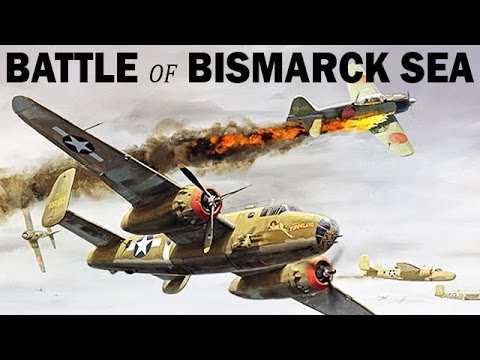 Battle of the Bismarck Sea   US & Australian Air Raid on Japanese Ships   1943   WW2 Newsreel