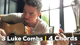 Download 3 Luke Combs Songs 4 Same Chords Same Order (Guitar Lesson) Mp3 and Videos