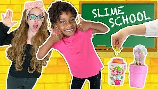 Slime School Students vs Silly Teacher! Teachers Day Off -  New Toy School