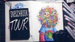 2018-sketchbook-flip-through-moleskine-edition-gawx-art