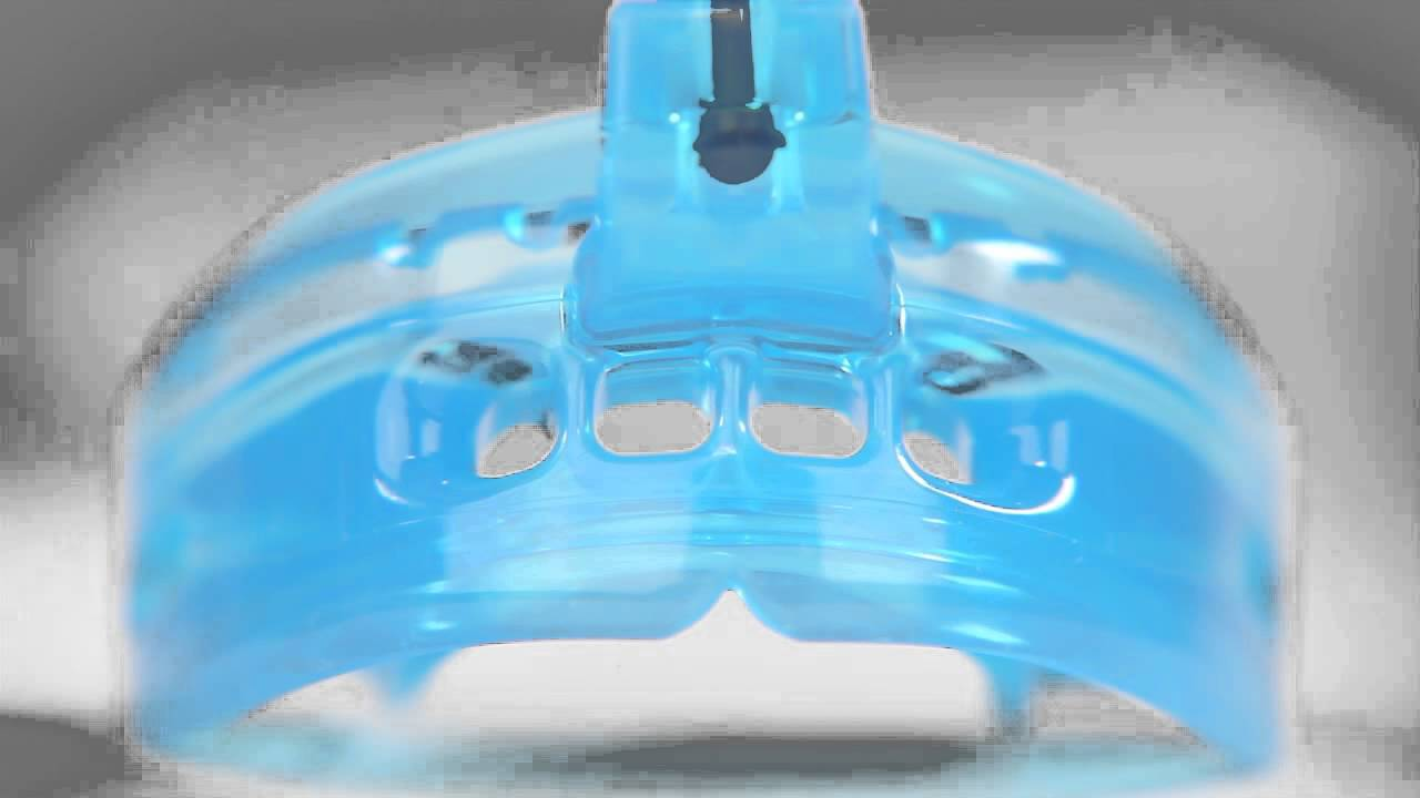 BLUE Adult STRAPPED Shock Doctor 4300 Double Braces Mouthguard