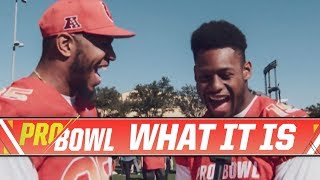 JuJu Interviews AFC Pro Bowlers for Team Picture Day   Steelers What It Is