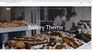 Bakery WordPress Theme - Install Demo Content
