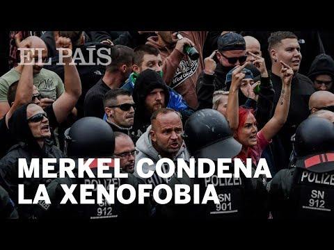 Angela Merkel condena la OLA de XENOFOBIA en Alemania