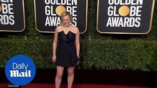 Elisabeth Moss puts on a leggy display at 2019 Golden Globes