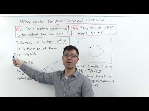 Why Vector Bundles