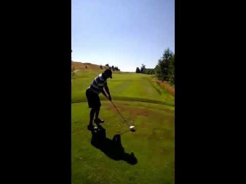 Golden Tate driving golf ball   Broadband