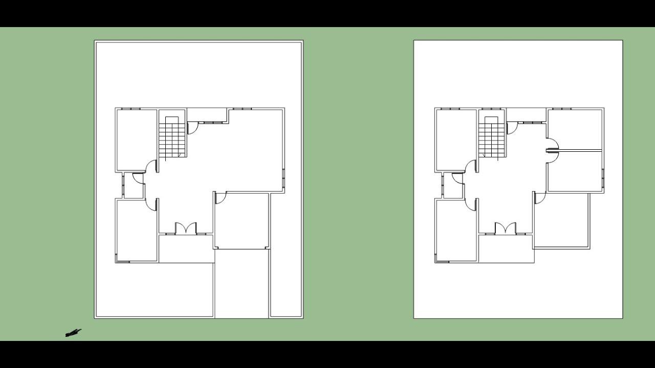Cara Menggambar Denah Rumah 2 Lantai Dengan Sketchup Youtube