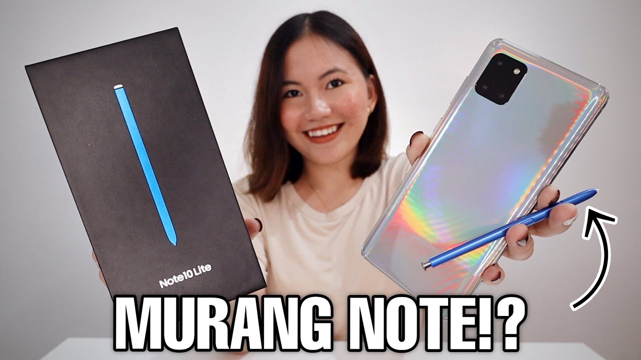Download SAMSUNG GALAXY NOTE 10 LITE UNBOXING & REVIEW