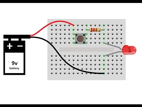"""circuit building"" lesson-6: working of switch; series ... rc boat battery wiring series diagram led wiring series button"