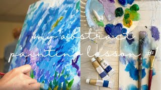 [미국일상 vlog] abstract painting …