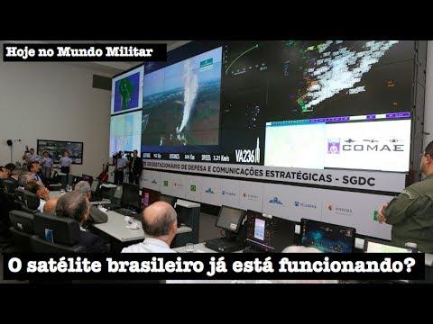 O satélite brasileiro já está funcionando?