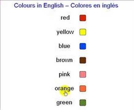 Colores en ingles - YouTube