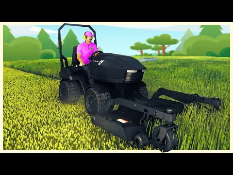 I Bought the Most Insane Lawn Mower Money Can Buy - Lawn Mowing Simulator |