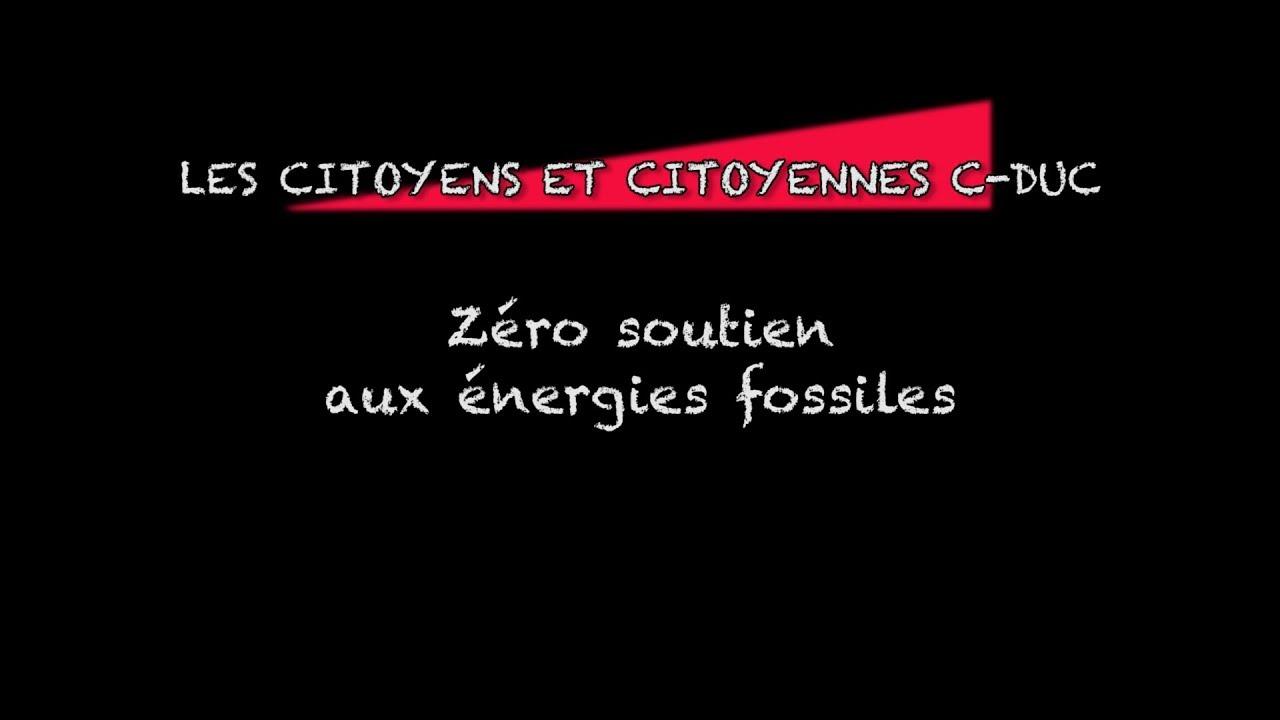 Zéro soutien aux énergies fossiles