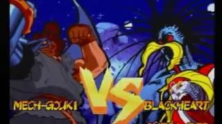 Marvel Super Heroes VS. Street Fighter - Sega Saturn - Survival Mode TEAM MECH-GOUKI