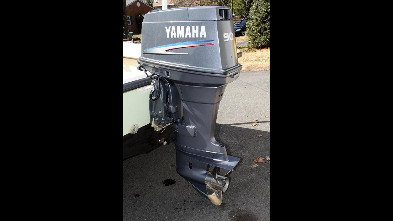 Yamaha 2 stroke 90hp outboard boat motor engine youtube Two stroke outboard motors