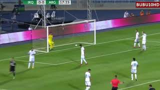 Argentina vs Iraq goal by Lautaro Martinez 11-10-2018