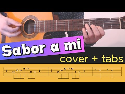 SABOR A MI on Guitar - Cover Tutorial Lesson Tabs Chords