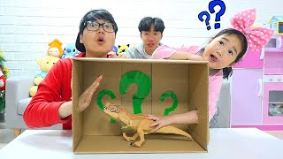 What's In the Box Challenge with Boram!!!!