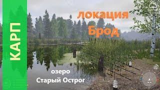Русская рыбалка 4 озеро Старый Острог Карп у моста через брод