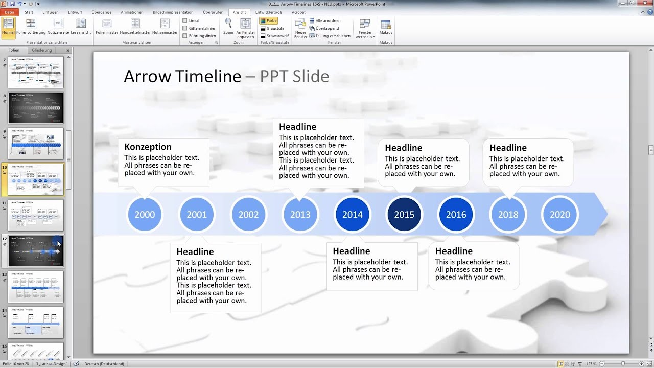 PowerPoint Arrow Timelines - YouTube