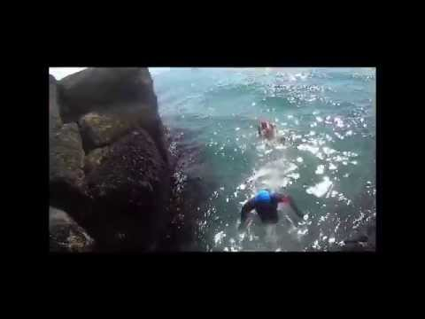 When the summer is like this! Coasteering Elie