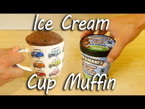 Chocolate Ice Cream Muffin in a Cup