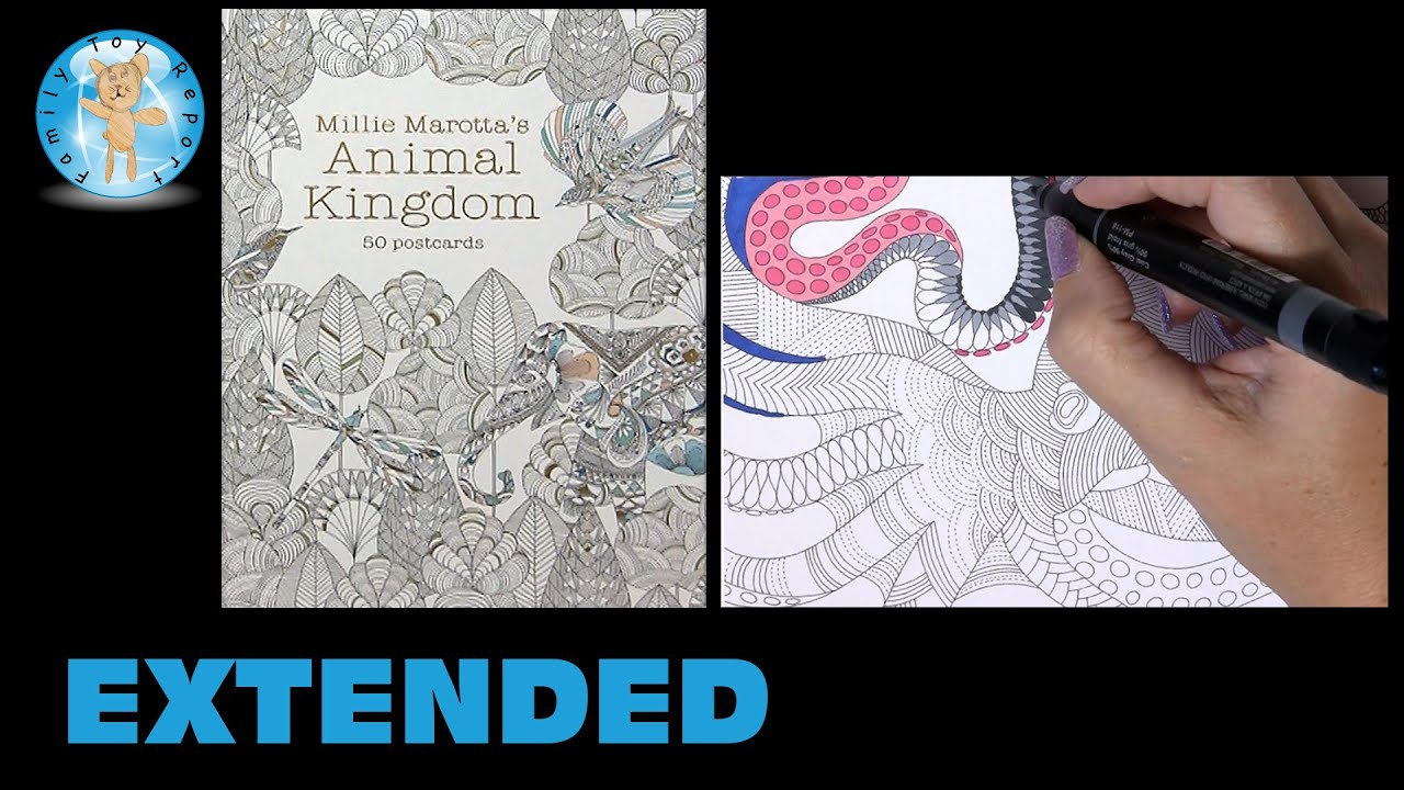 Millie Marottas Animal Kingdom Postcards Adult Coloring Book Octopus Extended