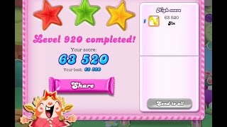 Candy Crush Saga Level 920     ★★★   NO BOOSTER【9 moves is completed】