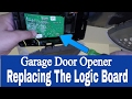 Replacing the Logic Board on a Chamberlain Whisper Drive 1/2 Hp Belt Drive Garage Door Opener