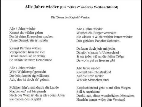 Alle Jahre wieder (Die Diener des Kapitals-Version - Ein ...