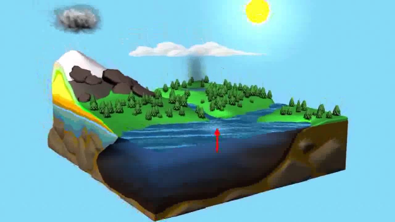 Ciclo Del Agua En 3D
