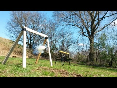 cheap and easy diy folding steel target stands