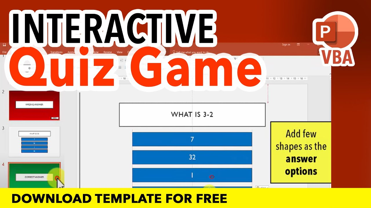 How to make a simple interactive quiz game mcq in ms powerpoint how to make a simple interactive quiz game mcq in ms powerpoint ppt tutorial download file free ccuart Gallery