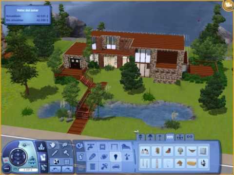 Casa moderna en los sims 3 youtube for Casas modernas sims 4 paso a paso