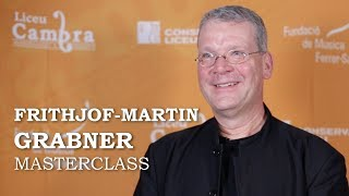 Masterclass amb Frithjof-Martin Grabner - cicle Liceu Cambra