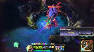 Master Yi with the new Sated Devourer - solo baron test PBE
