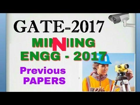 GATE 2017 Mining ENGINEERING PAPERS by IIT Roorkee
