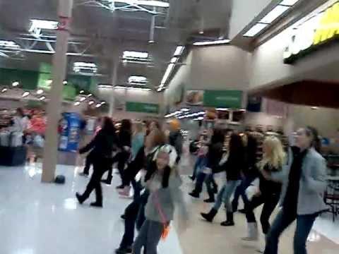 Flash mob at walmart
