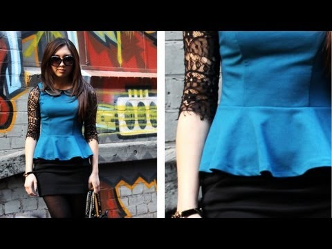 Ootd Peplum Tops How To Wear