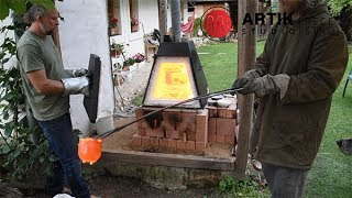 Keramická pec vytápěná dřevem a plynem Pyramide 135 a 240