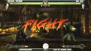 MK9 casuals - MikeMetroid (Cage, Stryker, Jax) vs GGA HAN (Cyrax, Reptile)