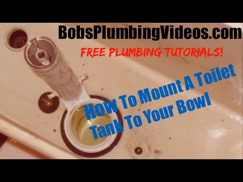 How To Install A Toilet Tank To Bowl