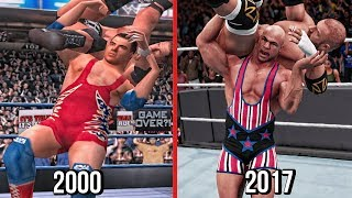 The Evolution Of Kurt Angle Angle Slam & Ankle Lock (WWF No Mercy To WWE 2K18 )