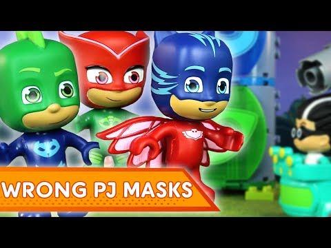 PJ Masks Creations Wrong PJ Masks! | PJ Masks Mega Bloks | Play with PJ Masks