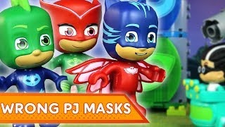 PJ Masks Creations 💜Wrong PJ Masks! | PJ Masks Mega Bloks | Play with PJ Masks