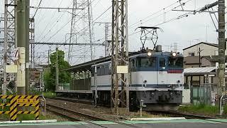 JR貨物 EF65形2000番台 単機回送(南武支線・小田栄駅)