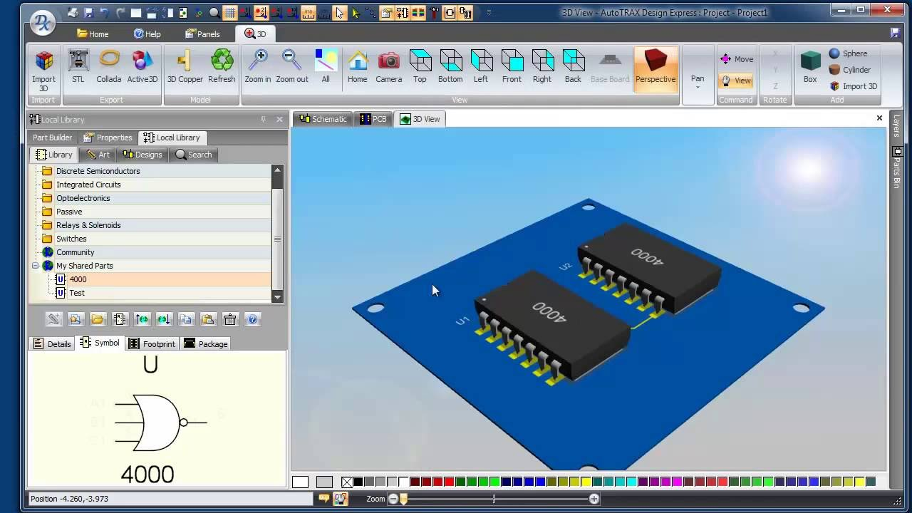 Creating a part with 4 schematic symbols (Split part) - YouTube