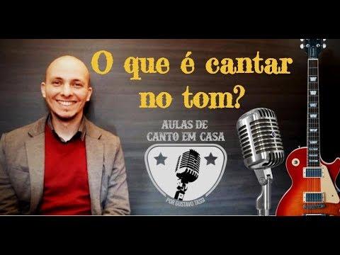 AULAS DE CANTO EM CASA - O que é cantar no tom?